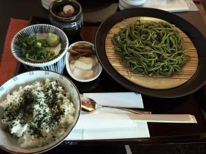 中村藤吉本店でお食事 茶そばセット